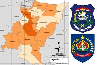 lokasi pabrik PT dan CV industri di daerah kota dan kabupaten Tegal