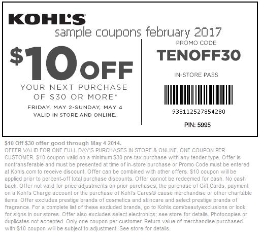 Kohls coupon code february 2019