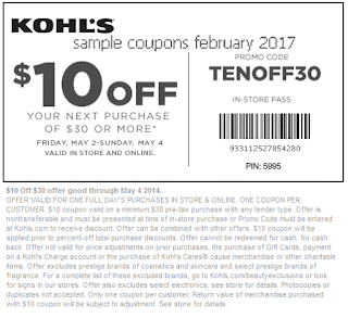 Kohls coupons february 2017