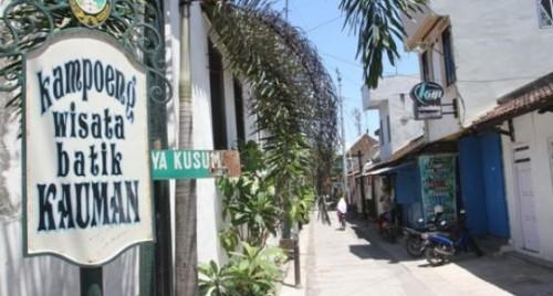 foto kampung batik kauman solo