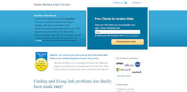 Cara Mengecek Link Error Pada Blog/ Website