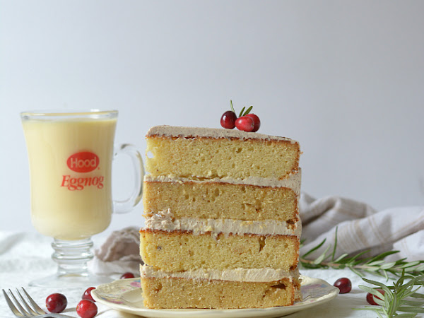 Eggnog Cake with Maple Spice Buttercream