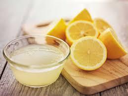 Le jus de citron