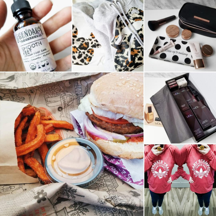 bblogger, bbloggers, bbloggerca, canadian beauty blogger, beauty blog, instamonth, legendary apothecary, smooth feet, h&m, nude by nature, starter kit, w2 ivory, vdl cosmetics, a&w, beyond meat, burger, calgary stampeders, adidas, hoodie