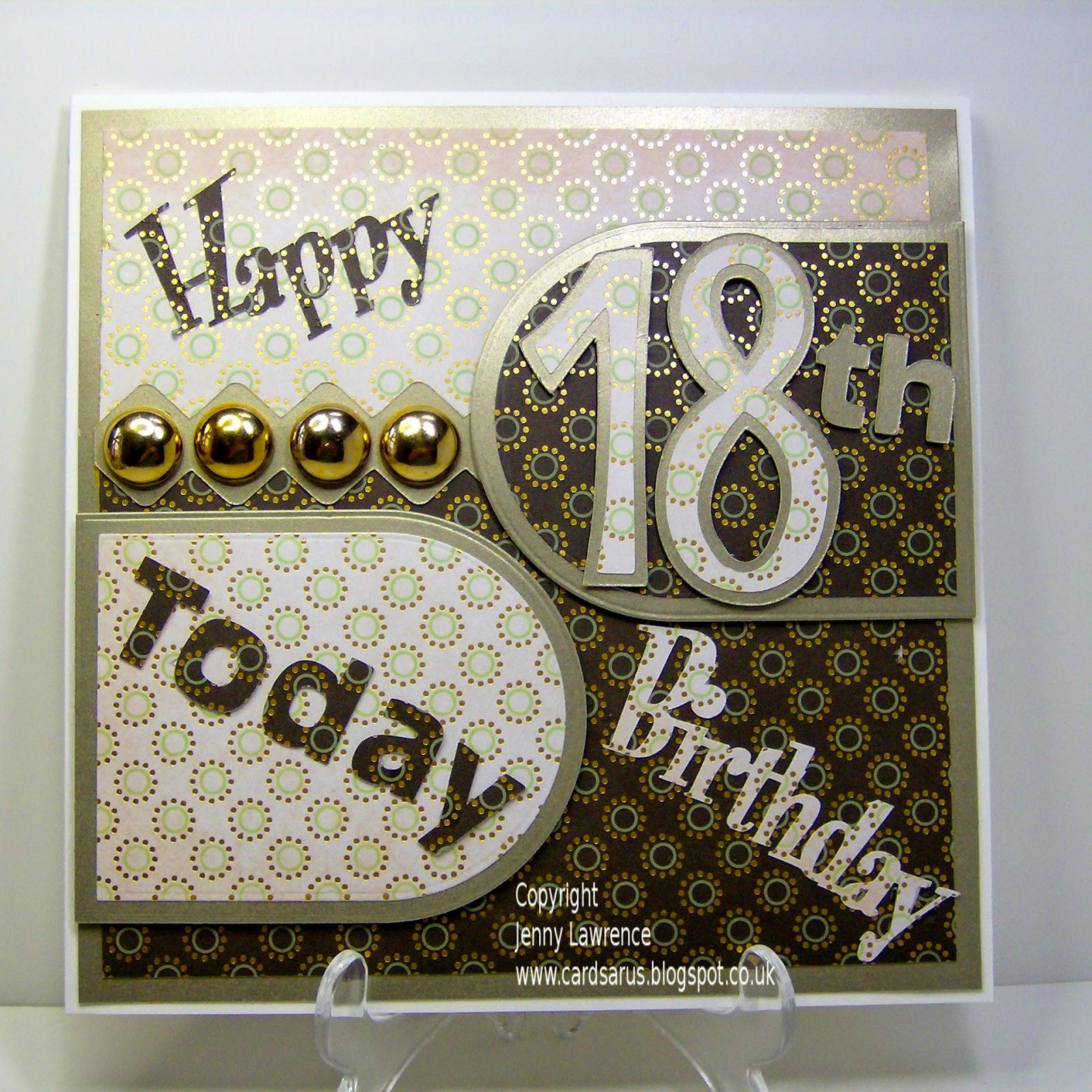 CARDSARUS: GRANDSON'S 18TH BIRTHDAY CARD