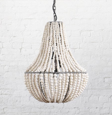 natural modern interiors: Klaylife Clay Beaded Chandelier ...