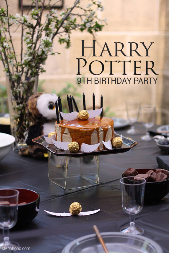 Harry Potter themed 9th birthday party