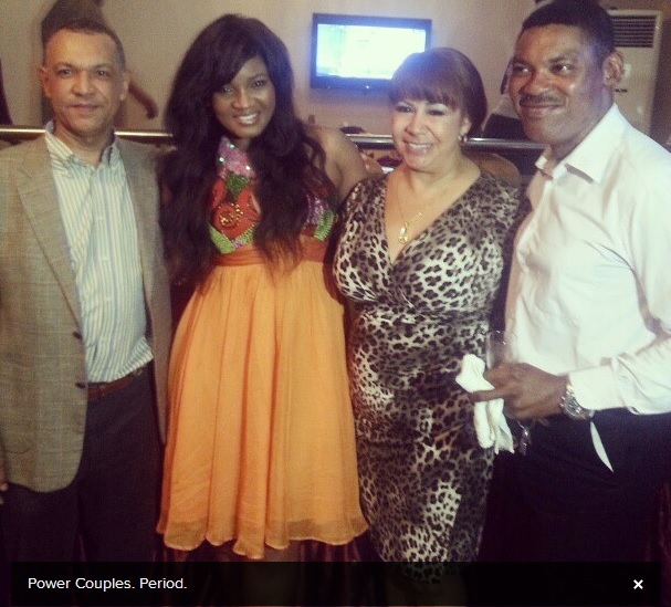 Omotola Jalade and Husband's PDA at her Birthday Party