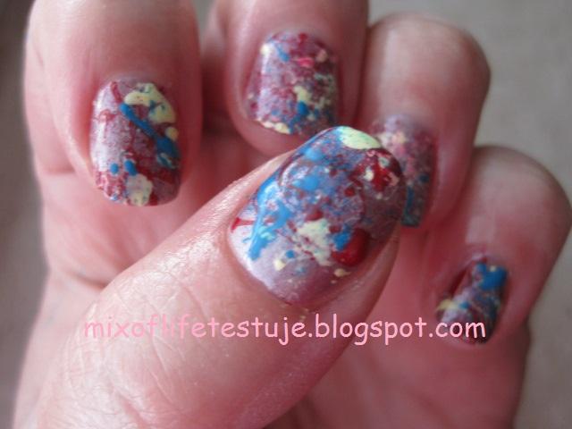 Splatter nails, czyli niedzielne dmuchanko