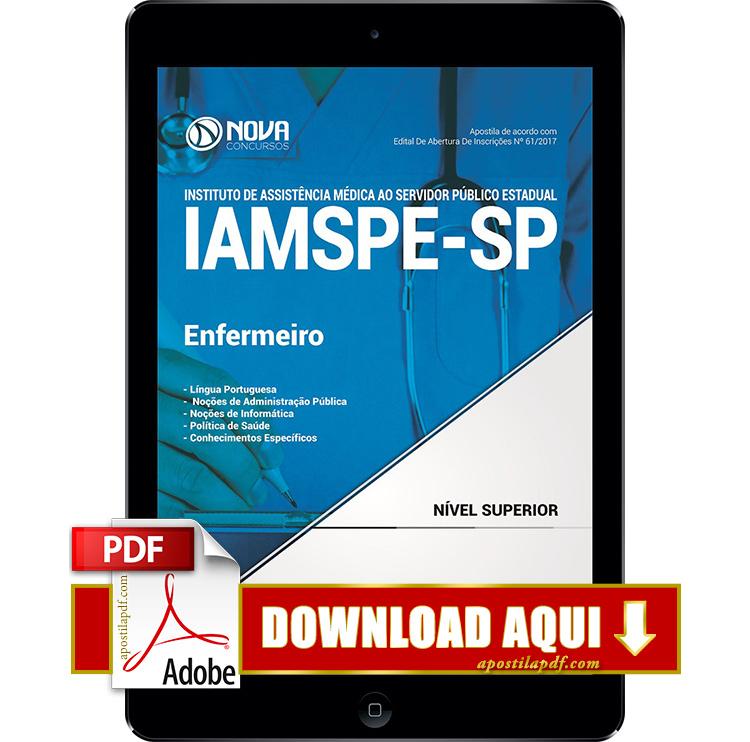 Apostila IAMSPE SP 2017 PDF Download Enfermeiro