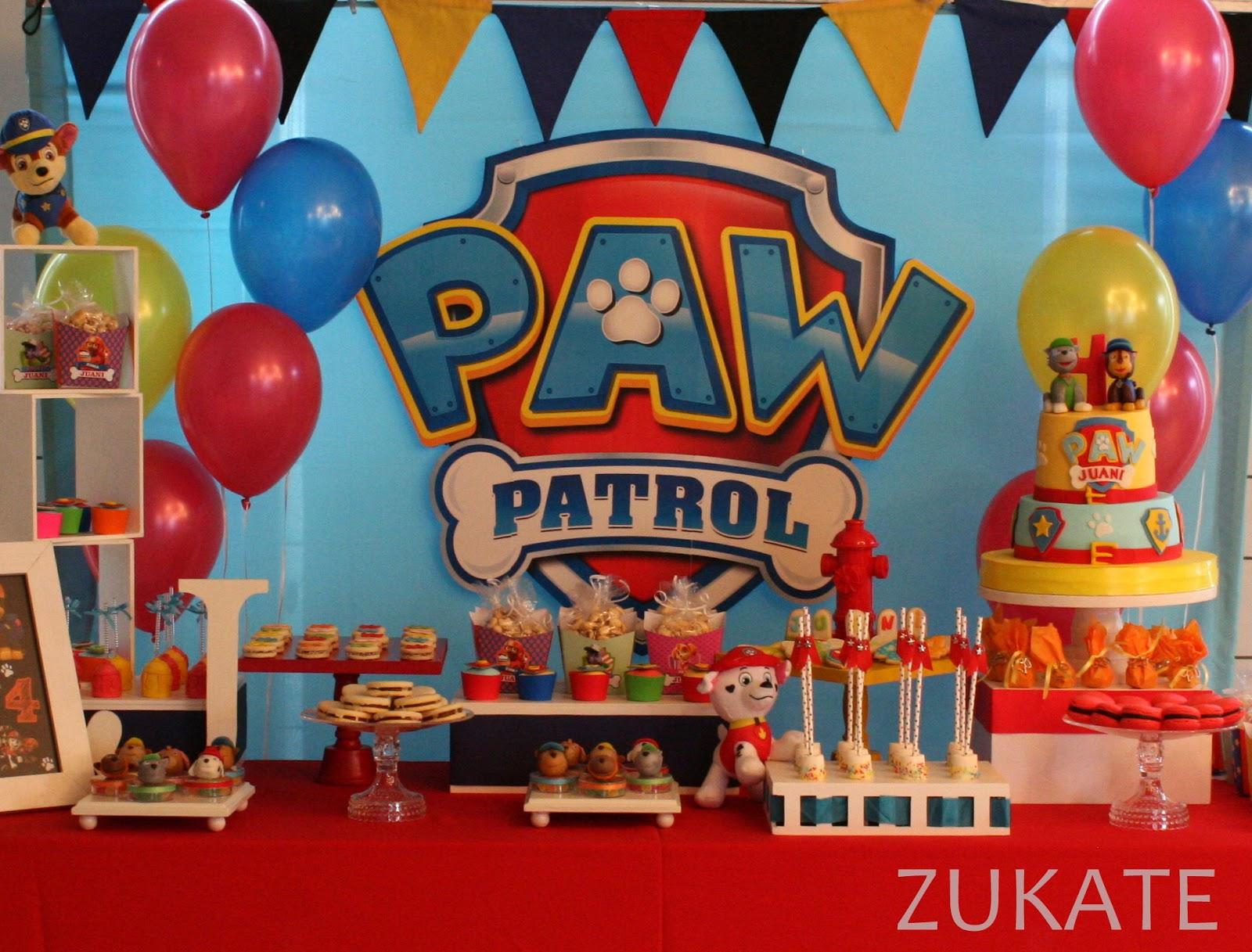 Fiesta de patrulla canina para juani zukate - Decoracion de la patrulla canina ...