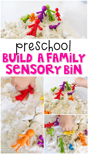 We LOVE this build a family sensory bin for our all about me theme. Great for tot school, preschool, or even kindergarten!
