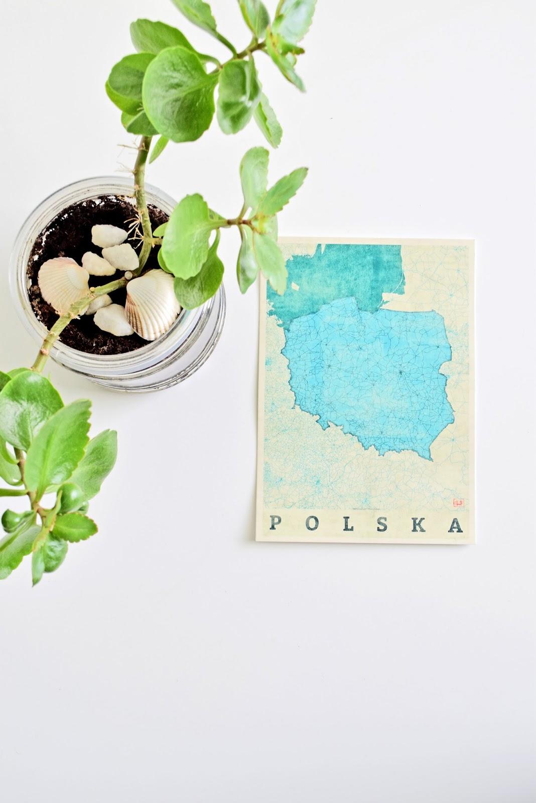 Pocztówka z Mapą Polski