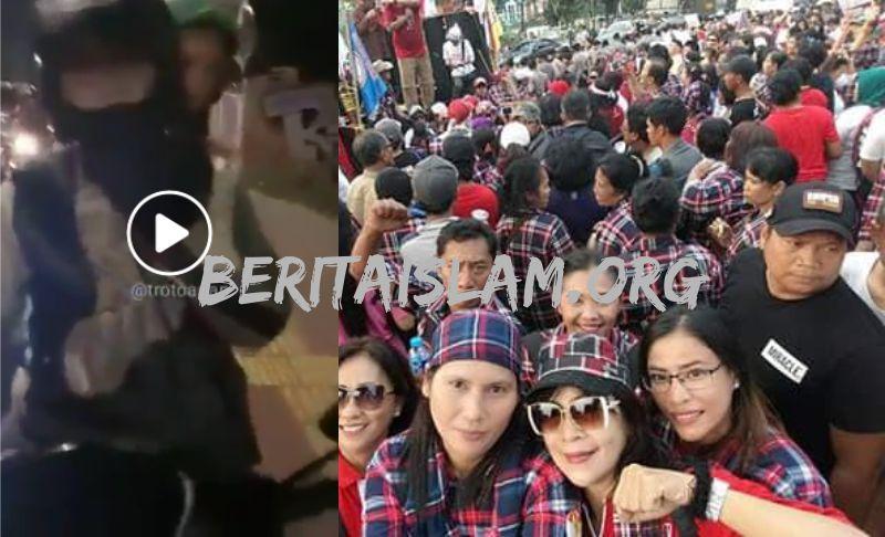 Pengemudi Grab Yang Pukul Pejalan Kaki Pakai Helm Ternyata Projo Pendukung Jokowi Ahok