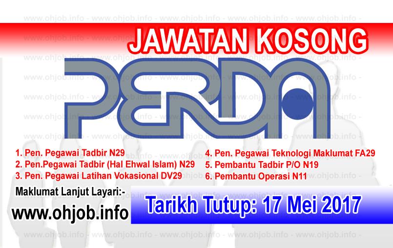 Jawatan Kerja Kosong PERDA - Lembaga Kemajuan Wilayah Pulau Pinang logo www.ohjob.info mei 2017