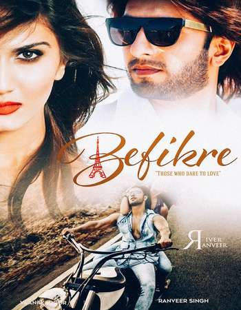 Poster Of Befikre 2016 Hindi 350MB Pre-DVDRip 480p Watch Online Free Download downloadhub.net