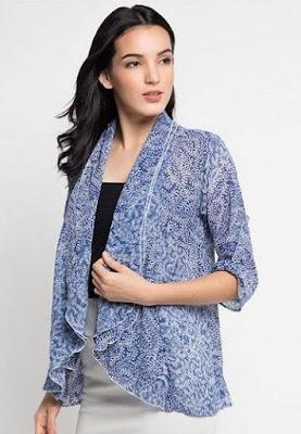 Model Baju Batik Kombinasi Bolero modis
