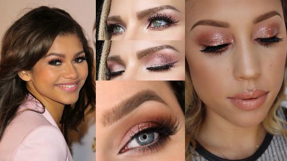 maquiagem com sombra rose