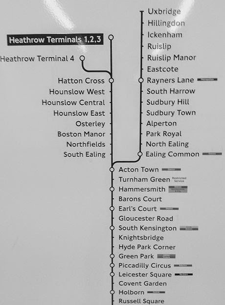 Heathrow Terminals 1 2 3, London, Piccadilly Line