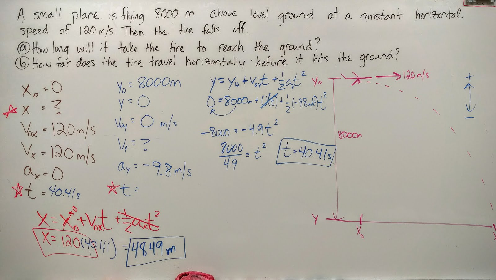 Volkening S Physics Classes Projectile Motion Problems