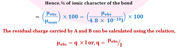 How to Calculate Percent Ionic Character with Dipole Moment and Bond Length