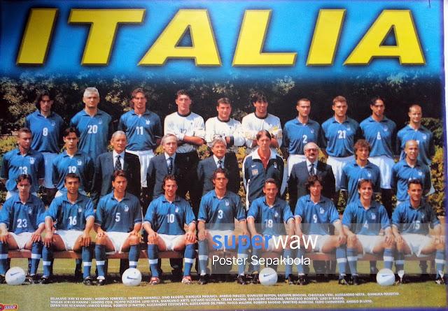 Poster Karton Tim ITALIA 1998