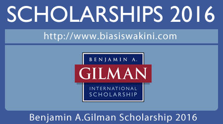 Benjamin A.Gilman International Scholarship 2016