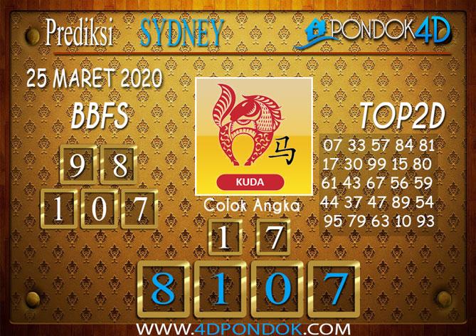 Prediksi Togel SYDNEY PONDOK4D 25 MARET 2020