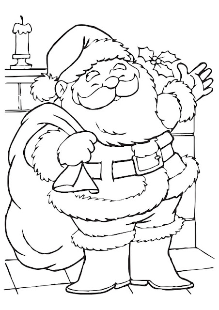 SantaColoring Pages Printable Free