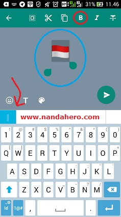 kode bendera indonesia di wa
