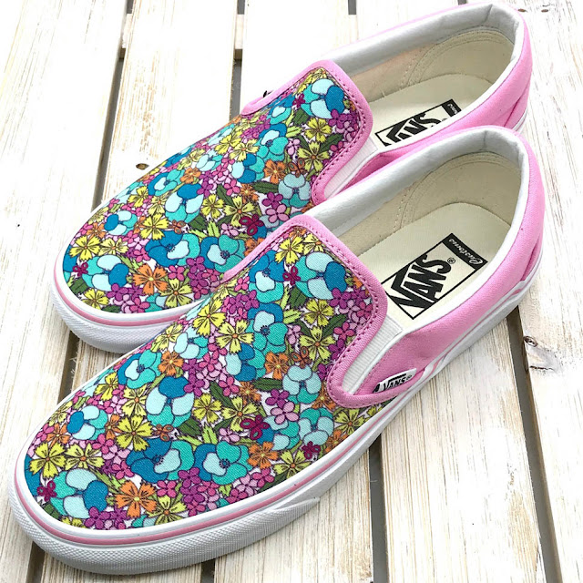 Custom Designed Vans Shoes By Thistle Thicket Studio. www.thistlethicketstudio.com