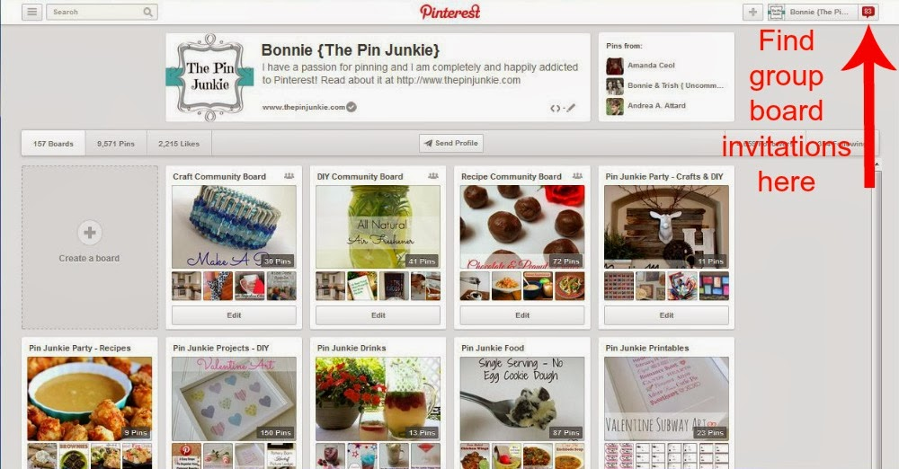 how to find Pinterest group board invitation