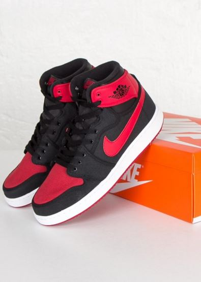 new product 6068a 5a6d4 Here is a look at the Air Jordan 1 KO High OG Bred Sneaker Available HERE,  these are gonna look awesome on feet! Check out more images after the jump.