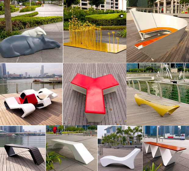 Singaporeans Stopped Outdoor Benches
