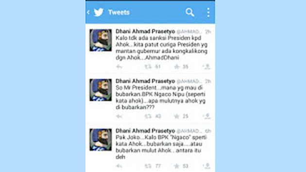 Begini Permintaan Dhani ke Presiden Terkait 'Mulut' Ahok