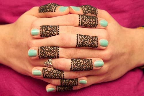 Arabic Ring Mehndi Designs For Fingers