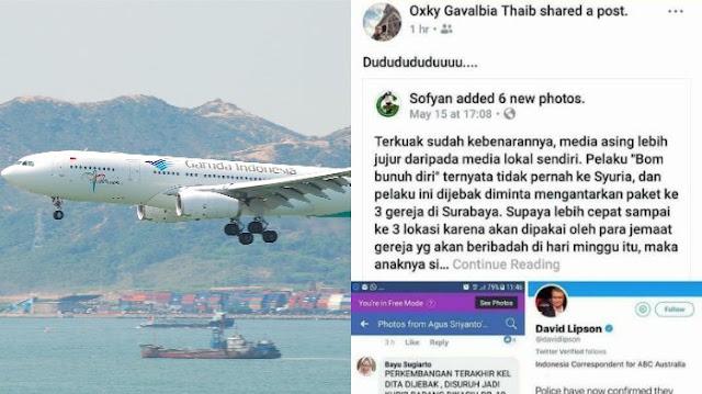 Posting soal Terorisme di Facebook, Pilot Garuda Indonesia Akhirnya Dinonaktifkan
