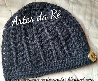 Regina - Artes e Artesanatos  Touca de Crochê Adulto 46c58ba25c0