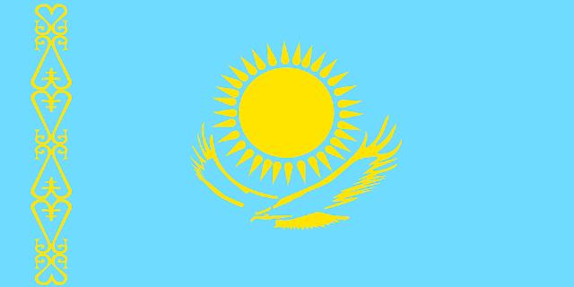Bandera de Kazajstán