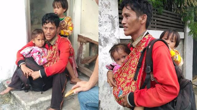 Setelah Ketemu, Pengakuan Pria yang Mengaku Dari Bone Jalan Kaki Gendong Dua Anak Kembarnya di Jakarta, Mengejutkan, Begini Katanya...