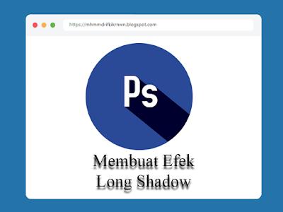 Membuat efek Long Shadow di Photoshop