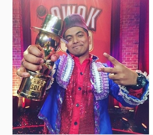 DANIAL juara Lawak Solo 2016 musim pertama, gambar danial juara Lawak Solo musim 1, danial johan Lawak Solo 1 2016 akhir