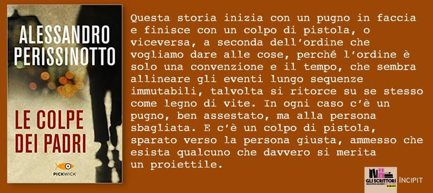 Le colpe dei padri, di Alessandro Perissinotto: incipit