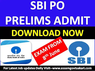 SBI PO Admit Card 2019 Download