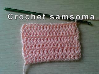 بالفيديو ;طريقة عمل غرزة العمود بلفة واحدة  - غرزة البريد-  double crochet -. تعلم الكروشيه .