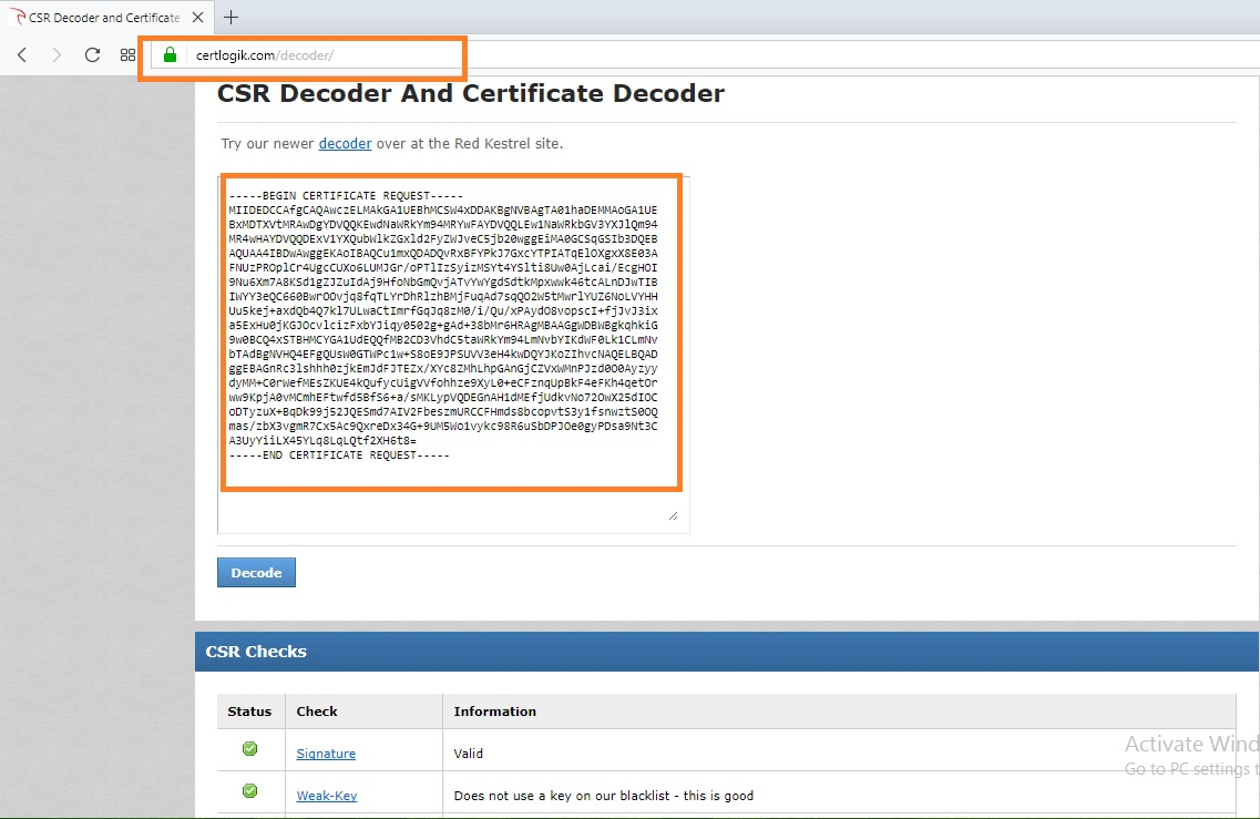 Middlewarebox How To Create Self Signed Certificate And Csr Using