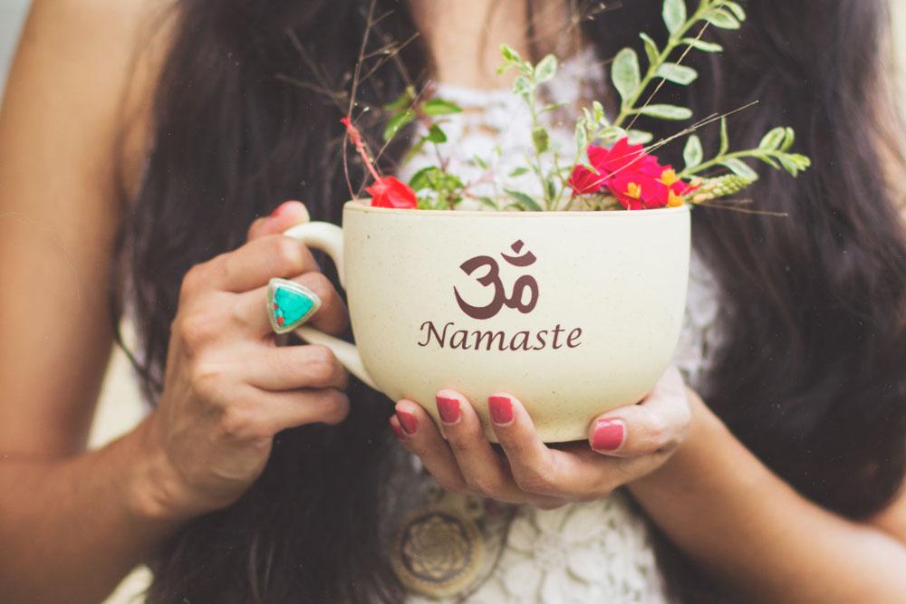 Namaste Om Boho Gypsy Mug | Bohemian lifestyle blog