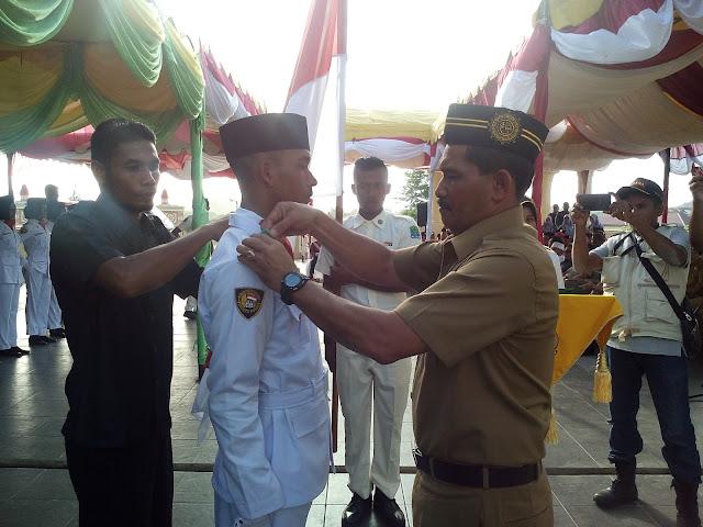 75 Orang Anggota Paskibra Aceh Jaya Dikukuhkan