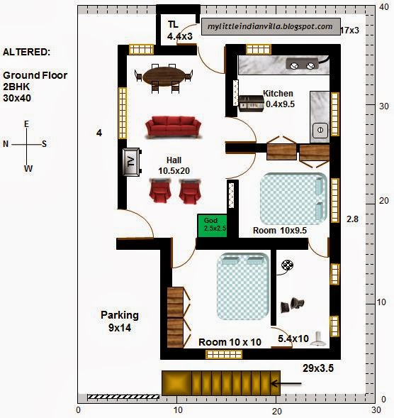 3 Bedroom 2 Floor House Plan Kerala Small House Interior Design