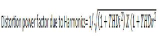 Distortion power factor due to Harmonics